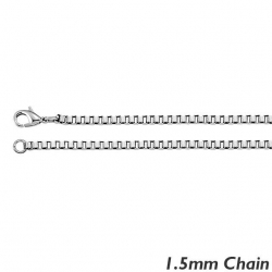 Sterling Silver 1 5mm Box Chain