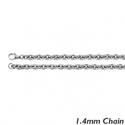 Sterling Silver 1 4mm  Rolo Chain