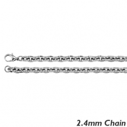 Sterling Silver 2 4mm  Rolo Chain