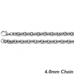 Sterling Silver 4 0mm Rolo Chain