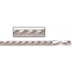 Sterling Silver Diamond Cut Rope Chain
