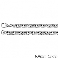Sterling Silver 6 0mm Rolo Chain