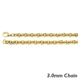 14K Yellow Gold 3 0mm Rolo Chain