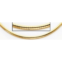 14K Yellow Gold Omega Chain