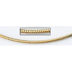 14K Yellow Gold Round Omega Chain