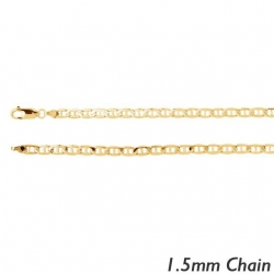 14K Yellow Gold 1 4mm Diamond Cut Anchor Chain