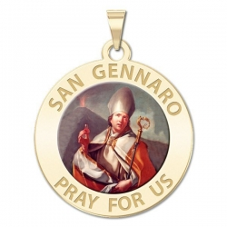 San Gennaro Medal  Color EXCLUSIVE