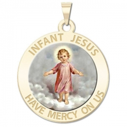 Infant Jesus Medal   Color EXCLUSIVE