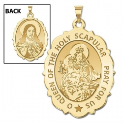 Scapular Medal Scallopped OVAL  EXCLUSIVE