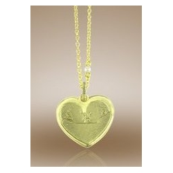 Heart Shaped Pendant w  Plain Back