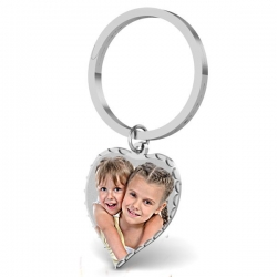 Heart Photo Engraved Key Chain