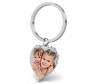 Heart Photo Key Chain