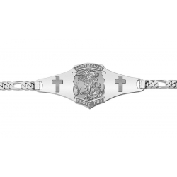 Saint Michael Police Badge Bracelet  EXCLUSIVE