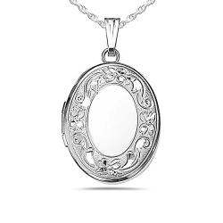Sterling Silver Oval Small Locket