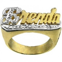 Diamond Woman s Name Ring