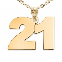 High Polished Number Charm or  Pendant with 2 Digits