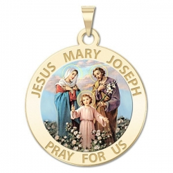 Jesus Mary Joseph Medal  Color EXCLUSIVE