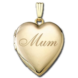 Solid14K Yellow Gold   Mum  Sweetheart Locket