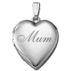 14k White Gold  Mum Sweetheart Locket