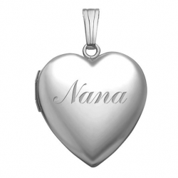 14k White Gold  Nana  Sweetheart Locket