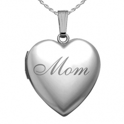 Sterling Silver  Mom  Sweetheart Locket