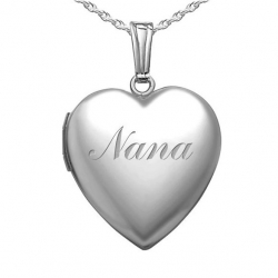 Sterling Silver  Nana  Sweetheart Locket