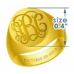 Round Women s Traditional Monogram Ring