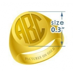 Round Girls s Traditional Monogram Ring