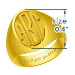 Boy s Oval Embossed Monogram Ring