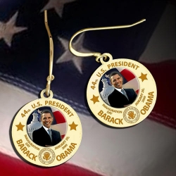 Barack Obama Inauguration Earrings  Color EXCLUSIVE
