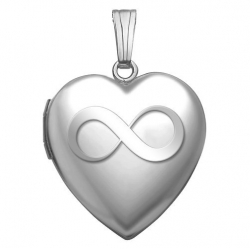 Sterling Silver Sweetheart  Infinity  Heart Locket