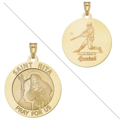 Saint Rita Medal  Baseball Medal  EXCLUSIVE