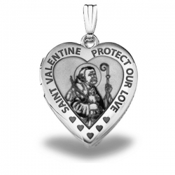Sterling Silver Sweetheart  Saint Valentine  Heart Locket