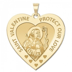 Saint Valentine Heart Shaped Medal   EXCLUSIVE