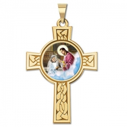First Holy Communion Girl Cross Medal   Color EXCLUSIVE