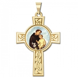 Saint Anthony Cross Medal   Color EXCLUSIVE