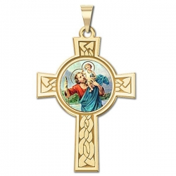 Saint Christopher Cross Medal   Color EXCLUSIVE