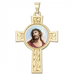 Ecce Homo Cross Medal   Color EXCLUSIVE