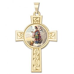 Saint Florian Cross Medal   Color EXCLUSIVE
