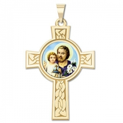 Saint Joseph Cross Medal   Color EXCLUSIVE