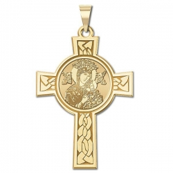 Our Lady of Perpetual Help Cross Medal   EXCLUSIVE