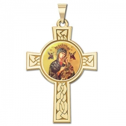 Our Lady of Perpetual Help Cross Medal   Color EXCLUSIVE
