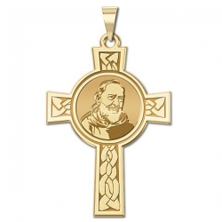 Saint Pio of Pietrelcina Cross Medal   EXCLUSIVE
