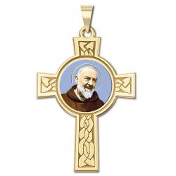 Saint Pio of Pietrelcina Cross Medal   Color EXCLUSIVE