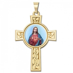 Sacred Heart of Jesus Cross Medal  Color EXCLUSIVE