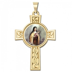 Saint Theresa Cross Medal  Color EXCLUSIVE