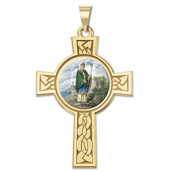 Saint Patrick Cross Medal   Color EXCLUSIVE