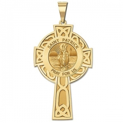 Saint Patrick CELTIC CROSS Medal   EXCLUSIVE