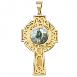 Saint Patrick CELTIC CROSS Medal   Color EXCLUSIVE