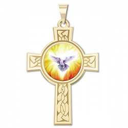 Holy Spirit Cross Medal   Color EXCLUSIVE